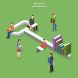 Education flat isometric vector concept. Stock Images