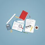 Education flat poster Stock Images
