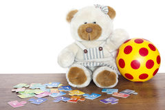 Education and fun for children with teddy bear. Concept Stock Image