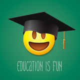 Education is fun, emoticon laughing Stock Images