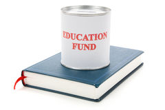 Education fund and book. Education fund, concept of saving for college Stock Images