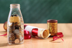 Education fund. Saving money for higher education stock photo