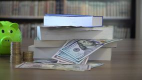 Education Funding Concept. Saving Money for Education stock video footage