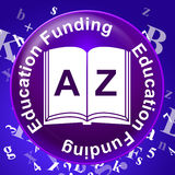 Education Funding Shows Financial Studying And Learning. Education Funding Meaning Finances Investment And Money Stock Photography