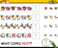 Education game with farm animals Stock Photography