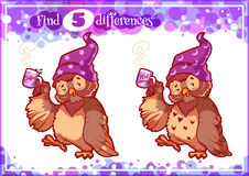 Education game for preschool kids, find the differences. Royalty Free Stock Photos
