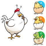 Education Game. Vector Illustration of Education game make the right choice Hen to chick Stock Images