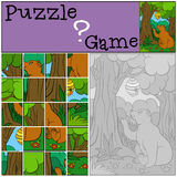 Education games for kids. Puzzle.  Royalty Free Stock Photo