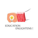 Education gives enlightenment Royalty Free Stock Photo