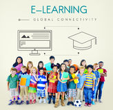Education Global Connectivity Graphic Concept Royalty Free Stock Photo
