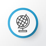 Education Globe Icon Symbol. Premium Quality Isolated World Sphere Element In Trendy Style. Premium Quality Isolated World Sphere Element In Trendy Style Royalty Free Stock Photos