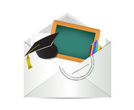 Education grades review letter illustration Royalty Free Stock Images