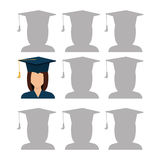 Education, graduation and academic trainning. Graphic design, vector illustration Royalty Free Stock Image
