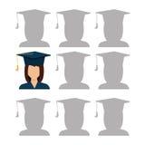 Education, graduation and academic trainning Royalty Free Stock Image