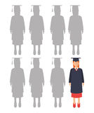 Education, graduation and academic trainning Stock Image