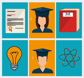 Education, graduation and academic trainning Stock Photography