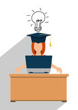 Education, graduation and academic trainning. Graphic design, vector illustration Stock Photos