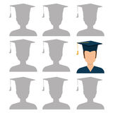 Education, graduation and academic trainning. Graphic design, vector illustration Stock Images