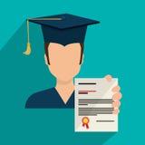 Education, graduation and academic trainning. Graphic design, vector illustration Stock Photos
