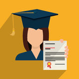 Education, graduation and academic trainning. Graphic design, vector illustration Royalty Free Stock Photography