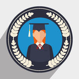 Education, graduation and academic trainning. Graphic design, vector illustration Royalty Free Stock Images