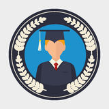 Education, graduation and academic trainning. Graphic design, vector illustration Royalty Free Stock Photos
