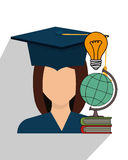 Education, graduation and academic trainning Stock Photos