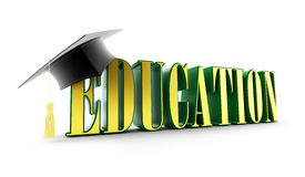 Education and graduation cap  Royalty Free Stock Photos