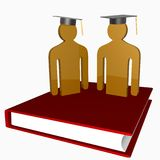 Education and graduation icon Royalty Free Stock Photography