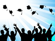 Education Graduation Means Educate Study And Tutoring Royalty Free Stock Photo
