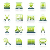 Education green icons. Royalty Free Stock Image
