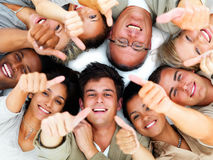 Education group-thumbs up Stock Image