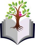 Education growth tree logo. Illustration art of a education growth tree logo with isolated background Stock Photo