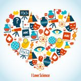 Education heart concept Royalty Free Stock Photography