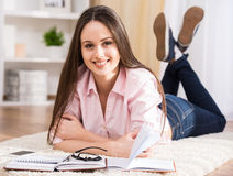Education and home concept. Royalty Free Stock Photos