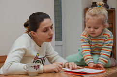 Education at home royalty free stock photography