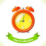 Education icon alarm clock Royalty Free Stock Photo