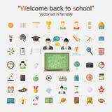 Education icon big set Royalty Free Stock Image