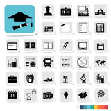 Education Icon in Business Category Concept Stock Photos
