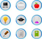 Education icon buttons Stock Photos