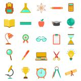 Education icon collection Stock Photos