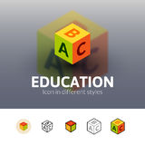 Education icon in different style Stock Images