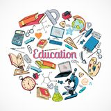 Education icon doodle Royalty Free Stock Image