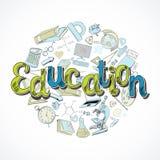 Education icon doodle Stock Photos
