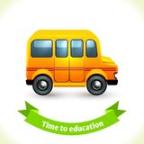 Education icon school bus Stock Image
