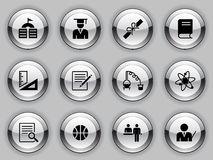 Education Icon Set. 16 education sign icons Royalty Free Stock Images