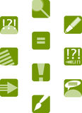 Education icon set. Green education icon set. One color used Stock Photo