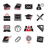 Education icon set Stock Images