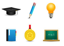 Education Icon Set. Student Royalty Free Stock Photography