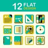 Education Icon Set. Vector education icon set flat style design Stock Photo